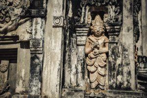 That Ing Hang temple in Savannakhet,Laos