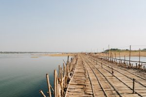 Wooden Bridge in Kampong Cham, Cambodia
