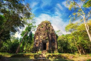 Ancient Khmer ruin in Kampong Thom, Cambodia
