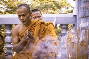 Monk ritual in Kandal, Cambodia