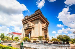 Patuxai Gate in Vientiane, Laos