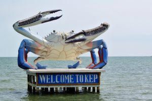 Crab statue in Kep, Cambodia
