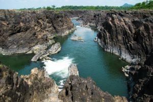 Ka Chang waterfall in Stung Treng, Cambodia